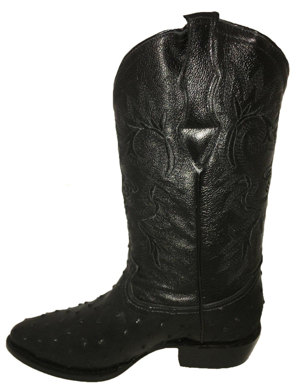 290be3146b2 Men's Cowboy Boots Ostrich Print Leather Western Rodeo Botas Liga de  Avestruz
