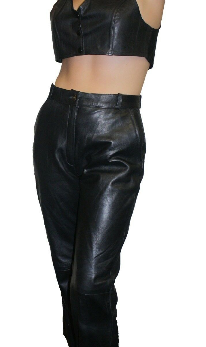 Women Premium Genuine Soft Lamb Leather Two Side Pockets