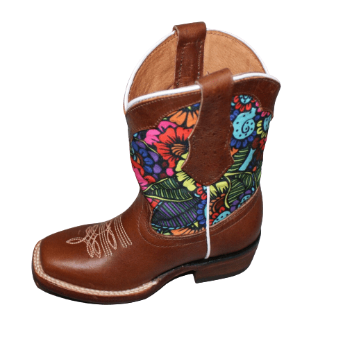 Kids Cowhide Leather Boots