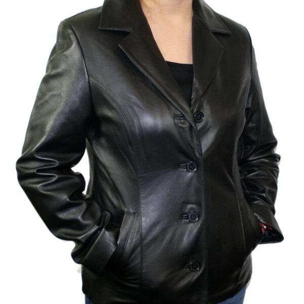 Ladies Lamb Leather Coat