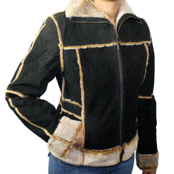 Ladies Suede Leather Jacket