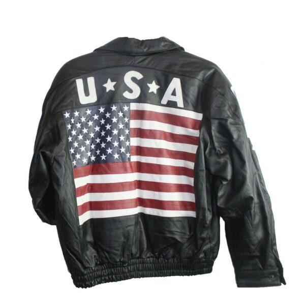 Men Leather USA Coat