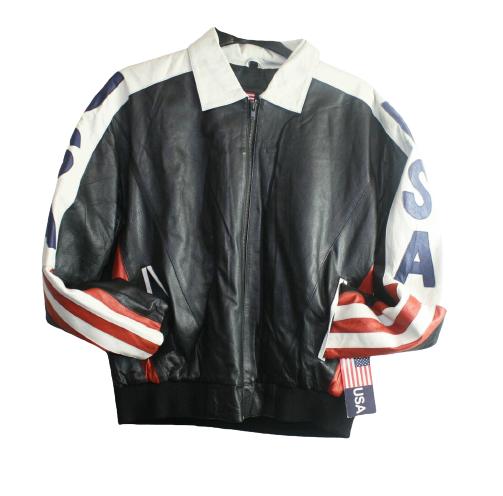 Men USA Flag Jacket