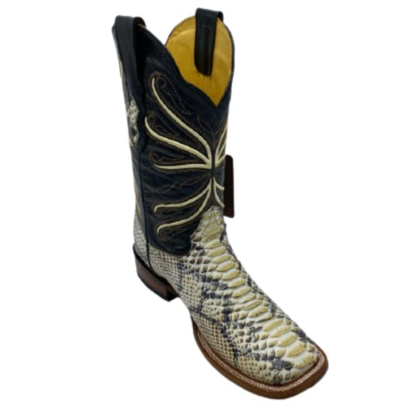 Men Python Print Rodeo Boots