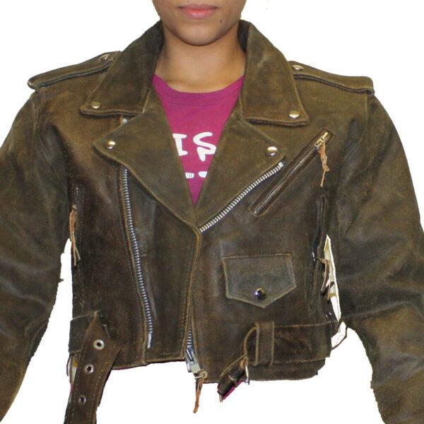 Women Brown Distress Jacket
