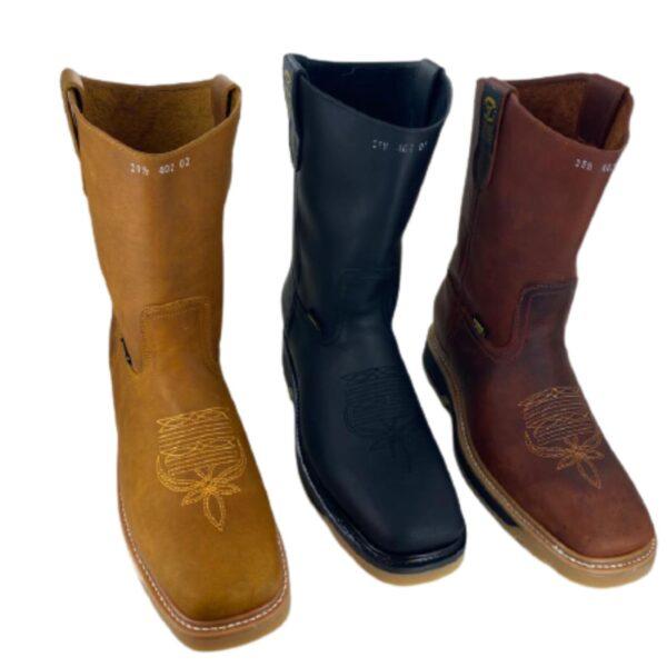 Men Cowboy Work Boots