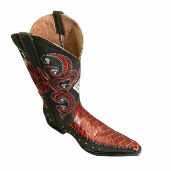 Men Coco Print Cowboy Boots