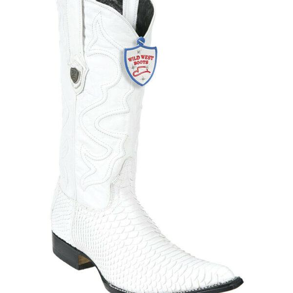 Men's Python White Boots